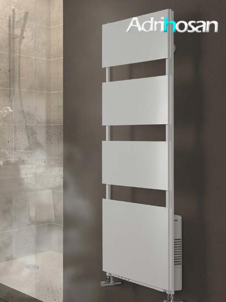 Radiador para calefacción central (agua) Sirocco en blanco.