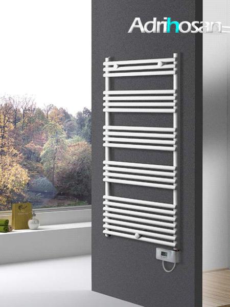 Radiador secatoallas eléctrico Davanti en blanco o cromo.