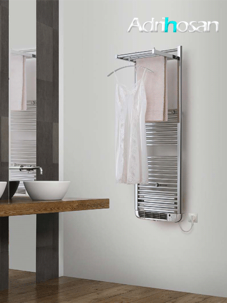 Radiador para calefacción mixto (agua-electricidad) To dry up en blanco o cromo.