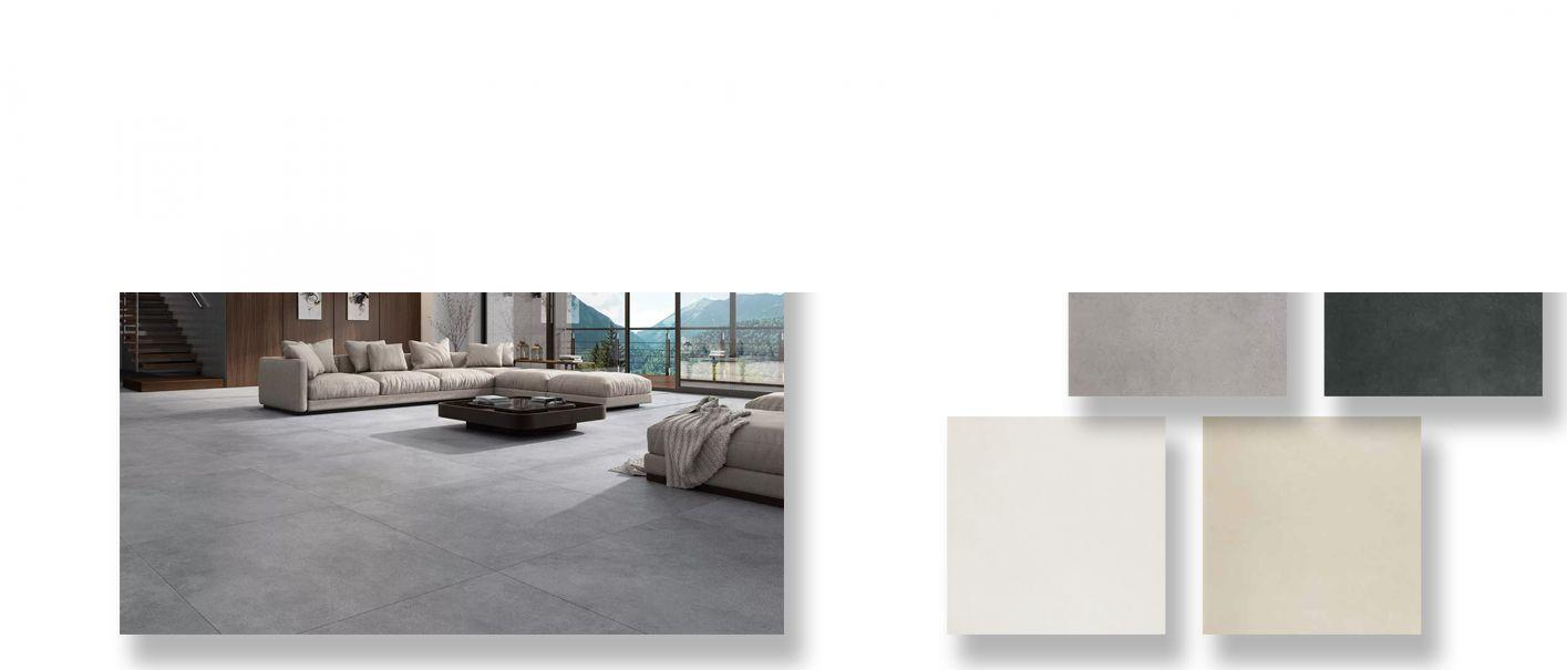 Pavimento porcelánico rectificado Space blanco 60x120 cm.