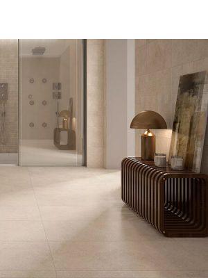 Pavimento porcelánico rectificado Space crema 60x120 cm.