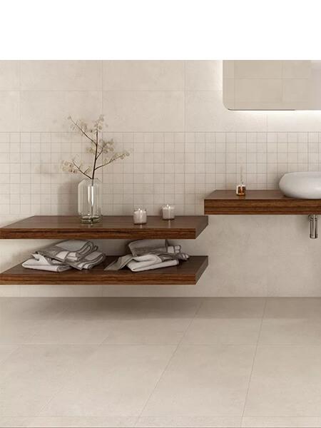 Pavimento porcelánico rectificado Space crema 120x120 cm (1.44 m2/cj)