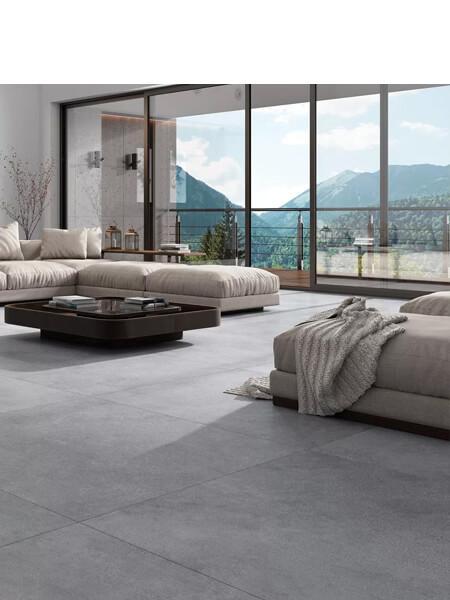 Pavimento porcelánico rectificado Space gris 45x90 cm (1.21 m2/cj)