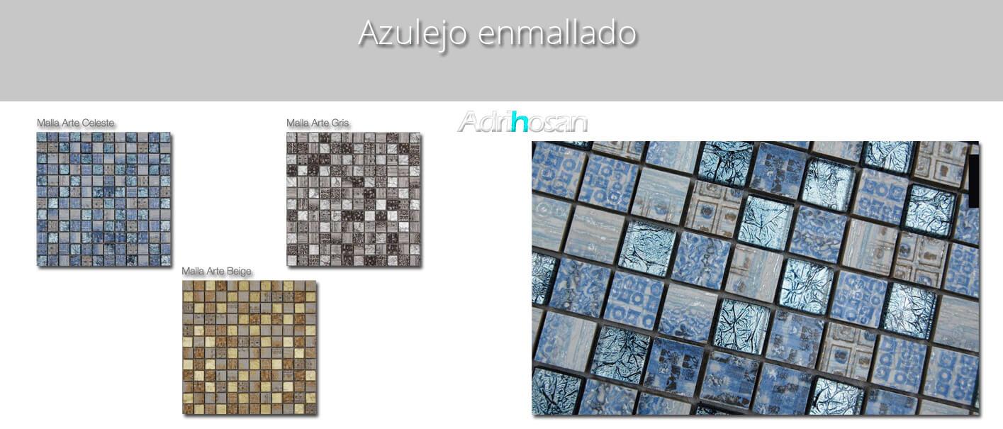 Azulejo porcelánico enmallado Arte 30 x 30 cm 2.3 x 2.3 cm