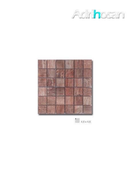 Azulejo porcelánico enmallado Forest marrón 29 x 29 cm tesela de 4,6 x 4,6 cm (venta por mallas)