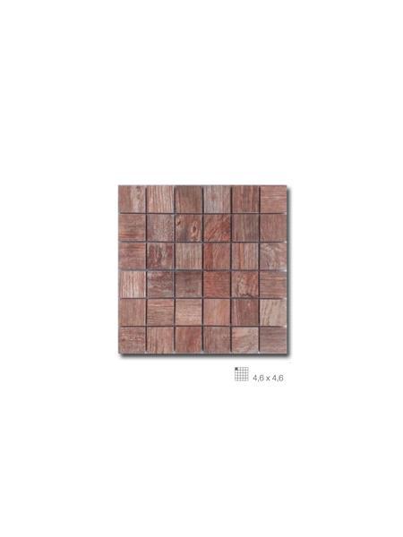 Azulejo porcelánico enmallado Forest marrón 29 x 29 cm tesela de 4,6 x 4,6 cm