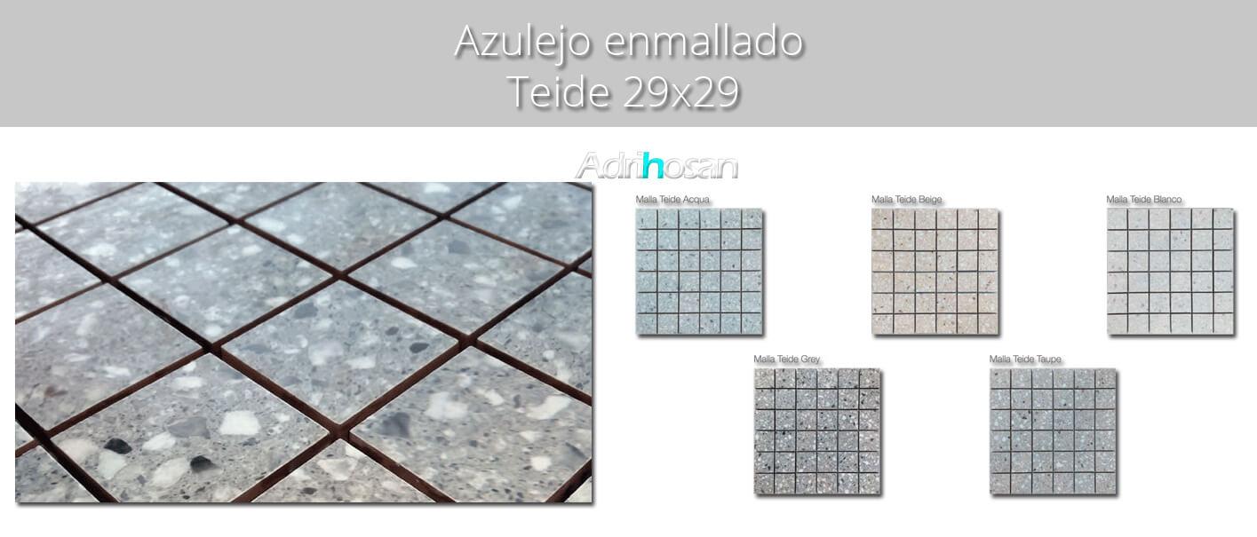 Azulejo porcelánico enmallado Teide 29 x 29 cm