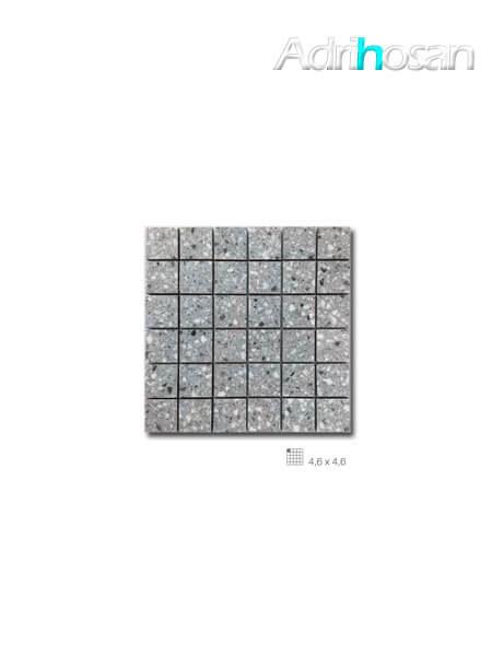 Azulejo porcelánico enmallado Teide Grey 29 x 29 cm tesela de 4,6 x 4,6 cm (venta por mallas)