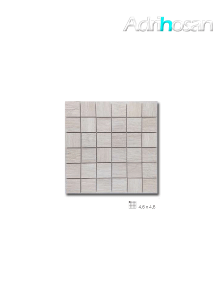 Azulejo porcelánico enmallado Wood beige 29 x 29 cm tesela de 4,6 x 4,6 cm (venta por mallas)