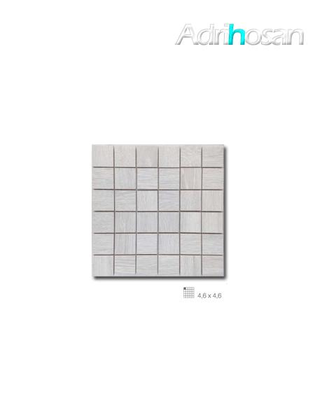 Azulejo porcelánico enmallado Wood gris 29 x 29 cm tesela de 4,6 x 4,6 cm (venta por mallas)