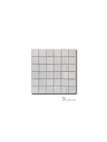 Azulejo porcelánico enmallado Wood gris 29 x 29 cm