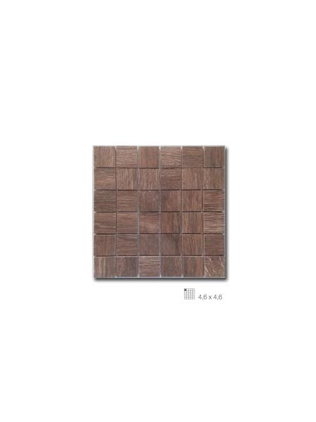 Azulejo porcelánico enmallado Wood marrón 29 x 29 cm | Adrihosan