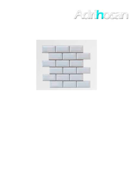 Azulejo tipo metro enmallado blanco mate 10 x 5 cm en mallas de 30.5x30.5 cm (venta por mallas)