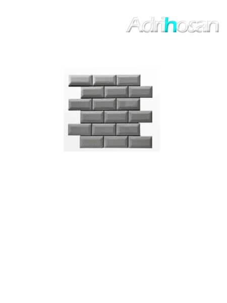 Azulejo tipo metro enmallado gris oscuro brillo 10 x 5 cm en mallas de 30.5x30.5 cm (venta por mallas)