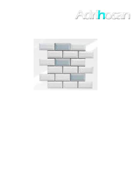 Azulejo tipo metro enmallado mix gris claro brillo 10 x 5 cm en mallas de 30.5x30.5 cm (venta por mallas)
