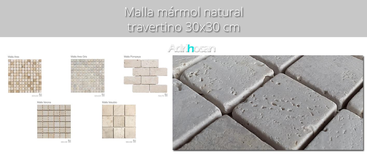 Malla de mármol travertino 30x30 cm | Adrihosan