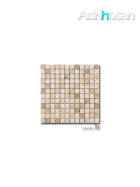 Malla de mármol travertino Ares 30x30 cm tesela 2.3 x 2.3 cm(venta por mallas)