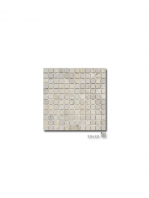 Malla de mármol travertino Ares gris 30x30 cm | Adrihosan