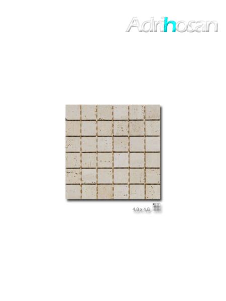 Malla de mármol travertino Verona 30x30 cm tesela 4.8 x 4.8 cm(venta por mallas)