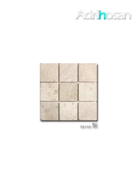 Malla de mármol travertino Vesubio 30x30 cm tesela 9.8x9.8 cm (venta por mallas)
