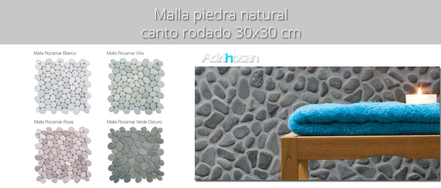 Malla de piedra canto rodado Rocamar 30x30 cm