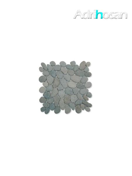 Malla de piedra canto rodado Verde oscura Rocamar 30x30 cm (venta por mallas)