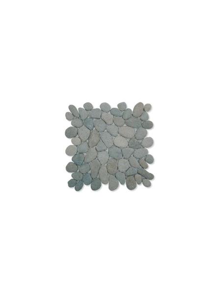 Malla de piedra canto rodado Verde oscuro Rocamar 30x30 cm