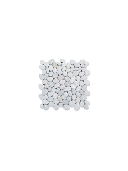 Malla de piedra canto rodado Blanca Rocamar 30x30 cm