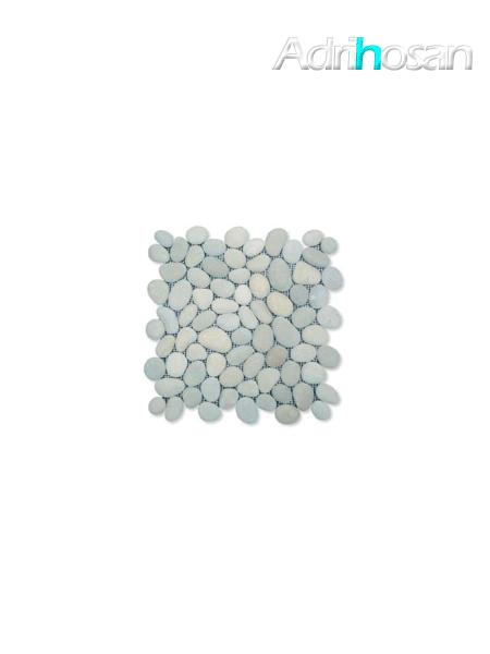 Malla de piedra canto rodado Gris Rocamar 30x30 cm (venta por mallas)