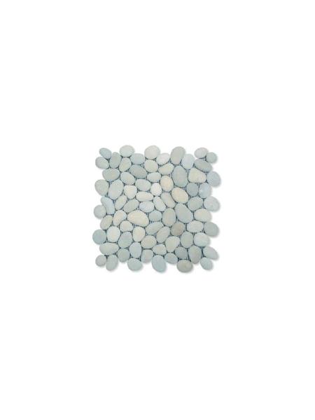 Malla de piedra canto rodado Gris Rocamar 30x30 cm