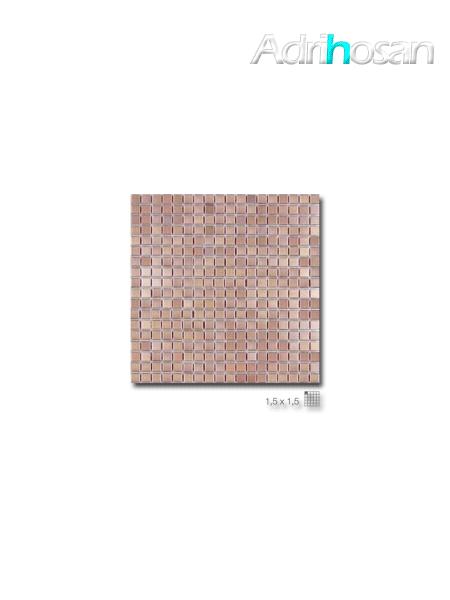 Malla decoración Acero Steel Cooper 30 x 30 cm tesela de 1.5 x 1.5 cm (venta por mallas)