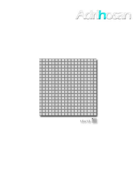 Malla decoración Acero Steel Silver 30 x 30 cm tesela de 1.5 x 1.5 cm (venta por mallas)