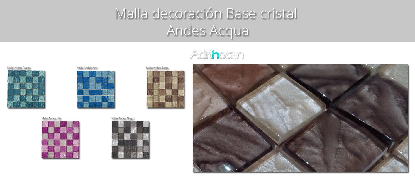 Malla decoración Base cristal Andes 30 x 30 cm