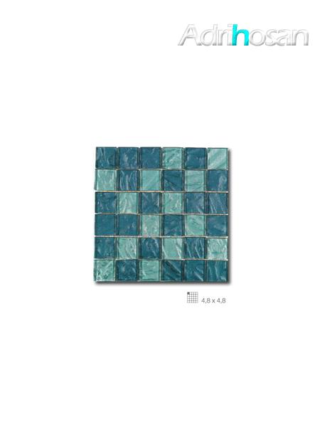 Malla decoración Base cristal Andes Acqua 30 x 30 cm tesela de 4.8 x 4.8 cm (venta por mallas)