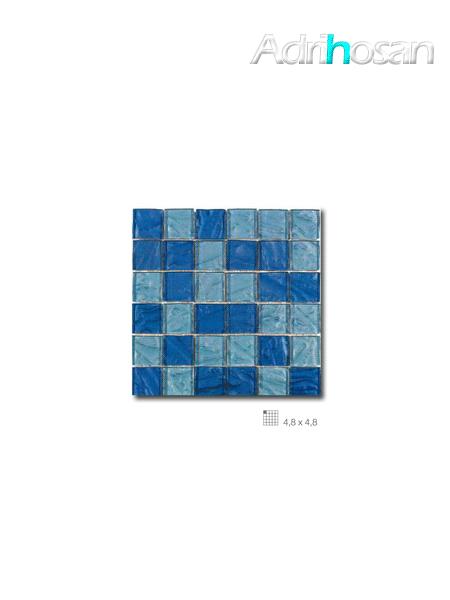 Malla decoración Base cristal Andes Azul 30 x 30 cm tesela de 4.8 x 4.8 cm (venta por mallas)
