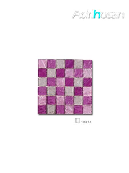 Malla decoración Base cristal Andes Lila 30 x 30 cm tesela de 4.8 x 4.8 cm (venta por mallas)