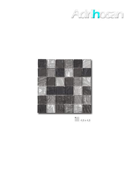 Malla decoración Base cristal Andes Negro 30 x 30 cm tesela de 4.8 x 4.8 cm (venta por mallas)