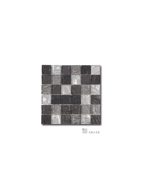 Malla decoración Base cristal Andes Negro 30 x 30 cm