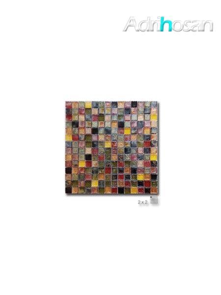 Malla decoración Base cristal Elegance Caramelo 30 x 30 cm tesela de 2 x 2 cm (venta por mallas)
