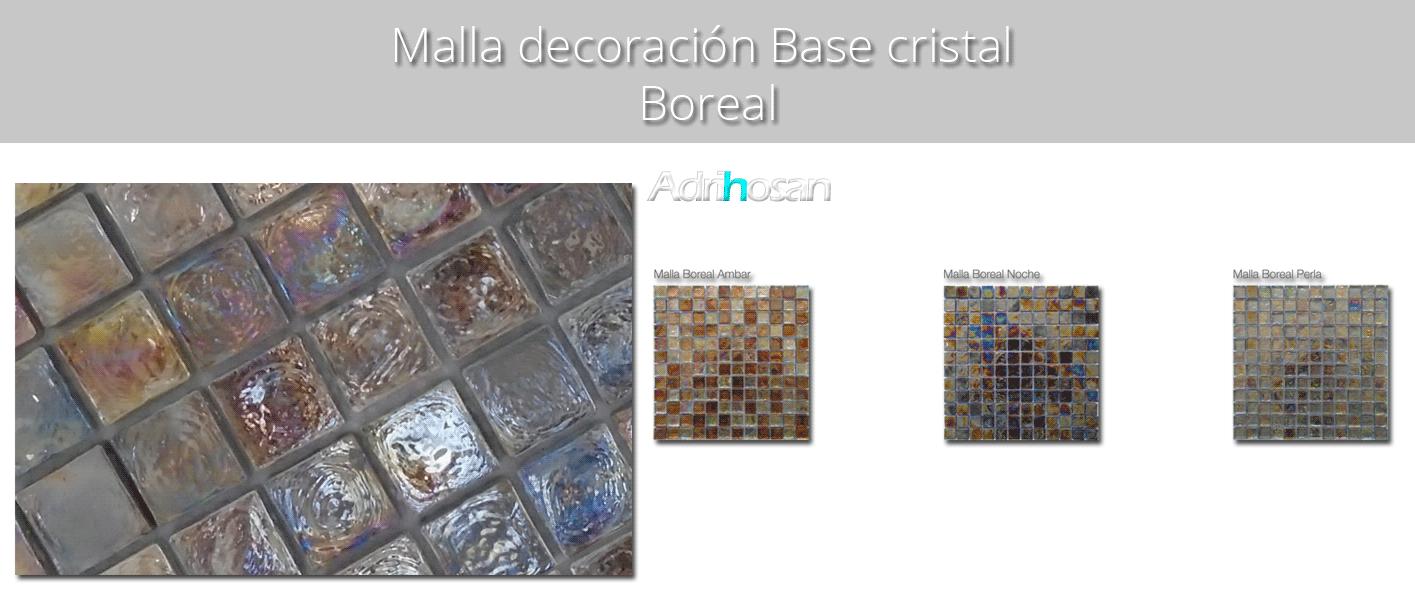 Malla decoración Base cristal Boreal 30 x 30 cm