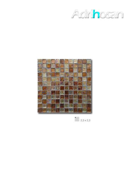 Malla decoración Base cristal Boreal Ambar 30 x 30 cm tesela de 2.3 x 2.3 cm (venta por mallas)