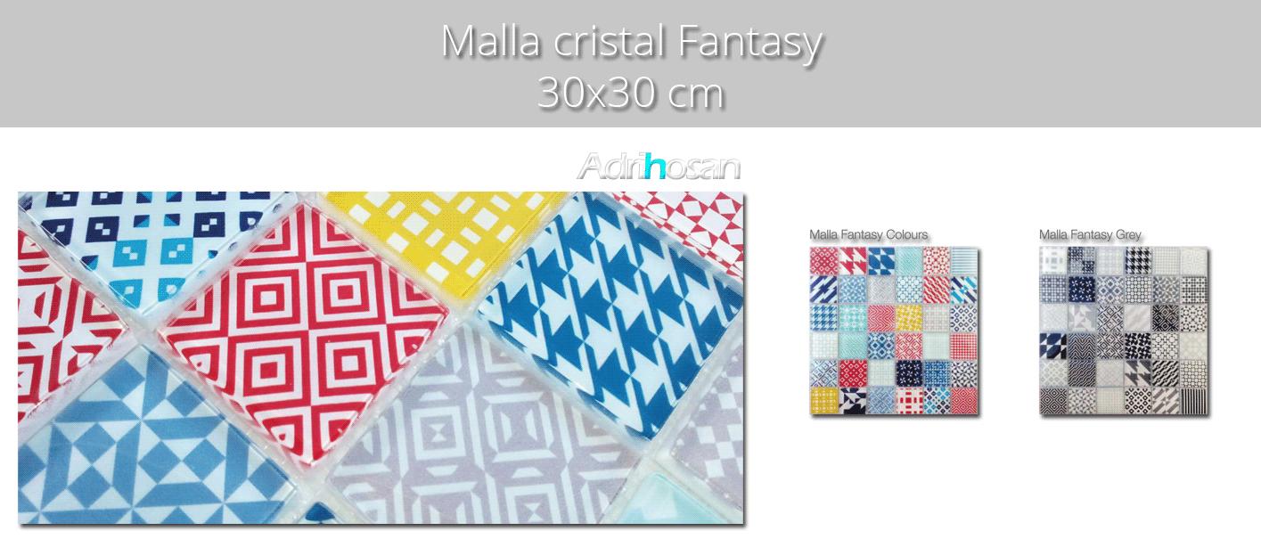 Malla decoración Base cristal Fantasy colors 30 x 30 cm