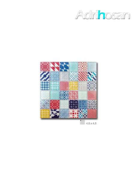 Malla decoración Base cristal Fantasy colors 30 x 30 cm tesela de 4.8 x 4.8 cm (venta por mallas)