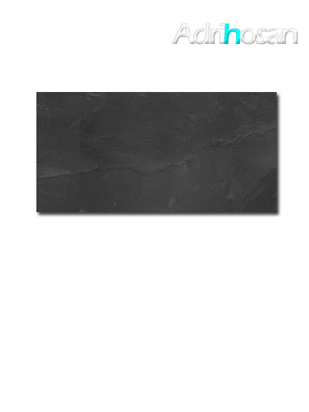 Pavimento porcelánico imitación pizarra Stonelife Black 30 x 60 cm (1.44 m2/cj)