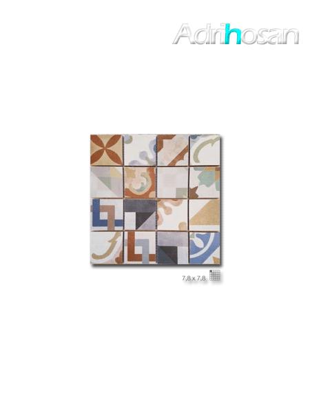 Azulejo enmallado Cartago 32 x 32 cm tesela de 7.8 x 7.8 cm (venta por mallas)