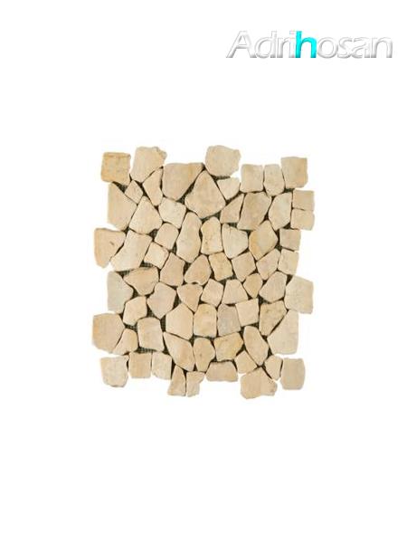 Malla de piedra canto rodado Rocaplana marfil 30x30 cm (venta por mallas)