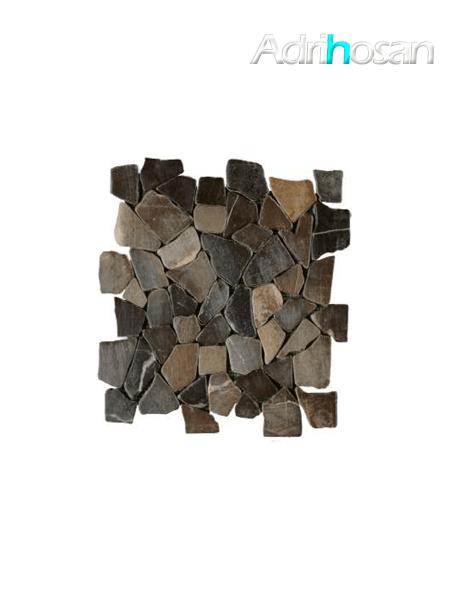 Malla de piedra canto rodado Rocaplana negro 30x30 cm (venta por mallas)