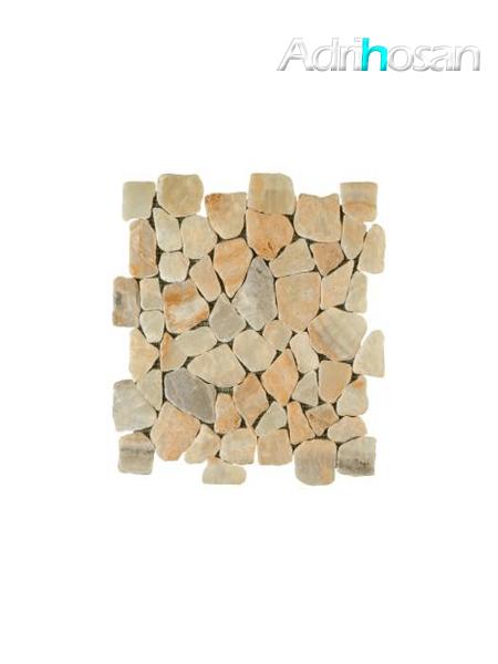 Malla de piedra canto rodado Rocaplana onix 30x30 cm (venta por mallas)