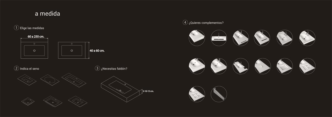 Encimeras y lavabos en Soid Surface a medida