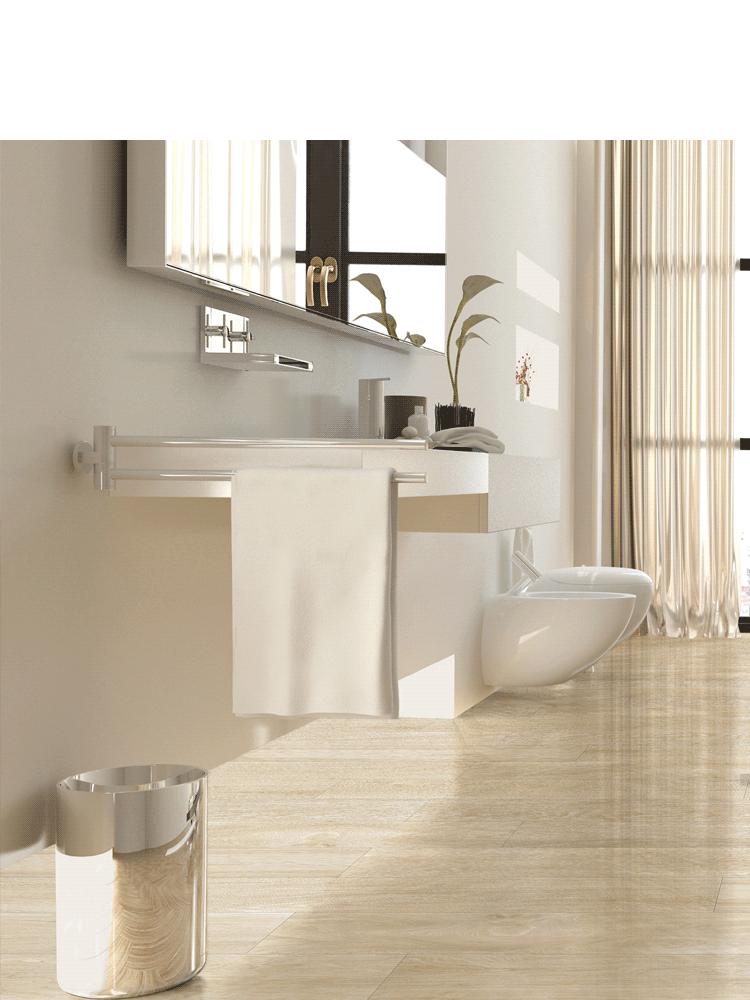 Pavimento porcel nico alto brillo sabana grey 15x90 cm for Pavimento imitacion madera
